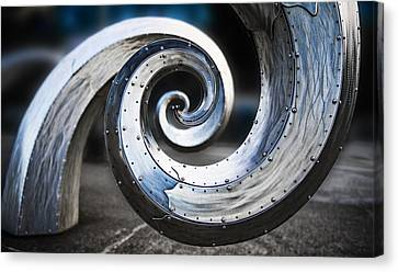 Salmon Waves Canvas Print by Pelo Blanco Photo