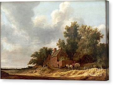 Salomon Van Ruysdael Canvas Print by MotionAge Designs