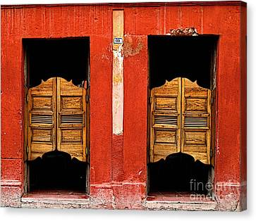 Saloon Door 2 Canvas Print by Mexicolors Art Photography