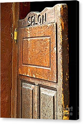 Saloon Door 3 Canvas Print by Mexicolors Art Photography