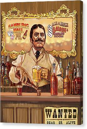 Saloon Keeper Canvas Print by Valer Ian