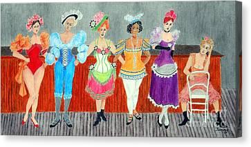 Saloon Sextet -- Portrait 1890's Women In Old West Canvas Print