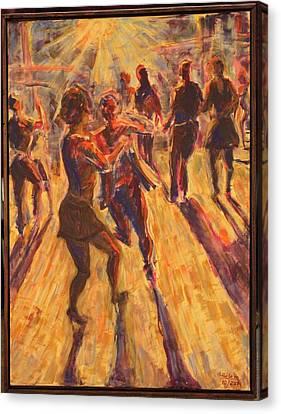 Salsa Dancing Canvas Print