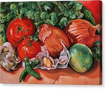 Salsa Canvas Print by Outre Art  Natalie Eisen