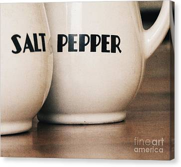 Salt And Pepper Canvas Print by Alison Sherrow