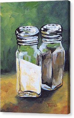 Salt And Pepper I Canvas Print by Torrie Smiley