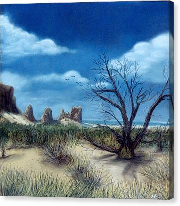 Salt Cedar At Arches Canvas Print by Jan Amiss