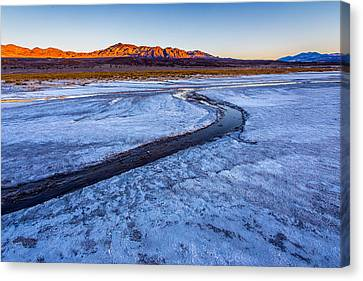 Salt Creek Death Valley Canvas Print by Peter Tellone