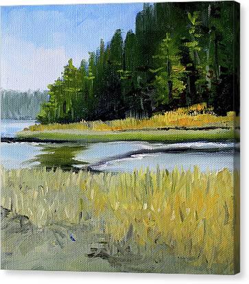 Canvas Print featuring the painting Salt Creek by Nancy Merkle