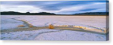 Salt Flats At Sunset, Route 50, Nevada Canvas Print by Panoramic Images