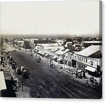 Salt Lake City - Commercial Street - C 1879 Canvas Print by International  Images