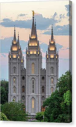 Salt Lake City Temple Morning Canvas Print