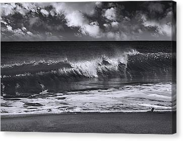 Salt Life Morning Bw Canvas Print