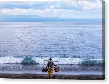 Salt Making - Bali Canvas Print