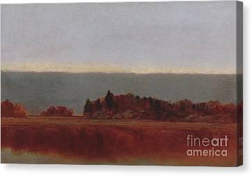 Salt Meadow In October, 1872 Canvas Print