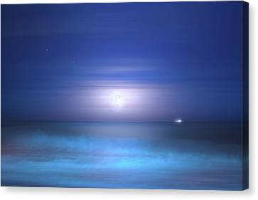 Canvas Print featuring the photograph Salt Moon by Mark Andrew Thomas
