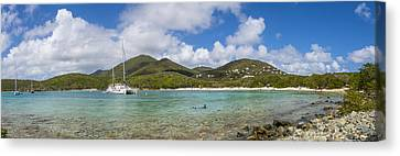Canvas Print featuring the photograph Salt Pond Bay Panoramic by Adam Romanowicz