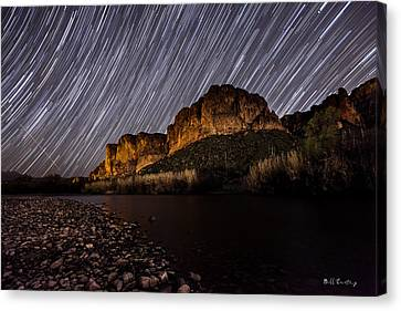 Salt River Star Trails Canvas Print