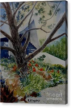 Saltman House And Garden I Canvas Print by Ralph Kingery