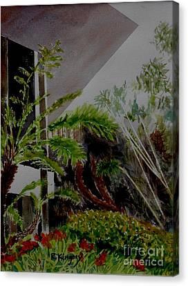 Saltman House And Garden II Canvas Print by Ralph Kingery