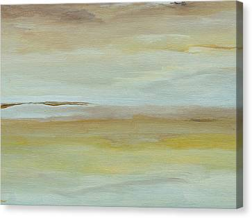 Canvas Print featuring the painting Saltmarsh  by Conor Murphy