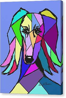 Saluki Colors Canvas Print by Terry Chacon