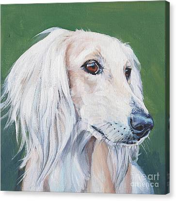 Canvas Print featuring the painting Saluki Sighthound by Lee Ann Shepard