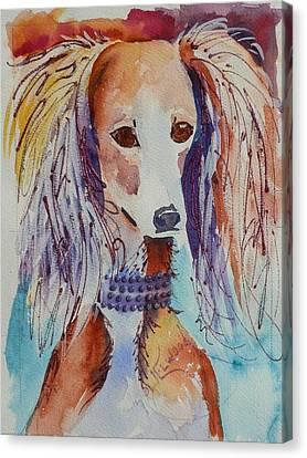 Saluki Sparkle Canvas Print