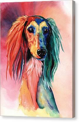 Dog Lovers Canvas Print - Saluki Sunset by Kathleen Sepulveda