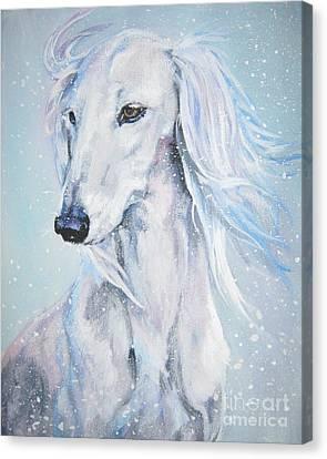 Saluki White Beauty Canvas Print by Lee Ann Shepard