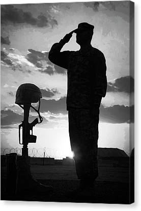 Salute To A Hero Canvas Print