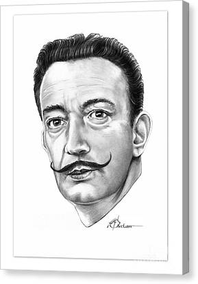 Salvador Dali Canvas Print by Murphy Elliott