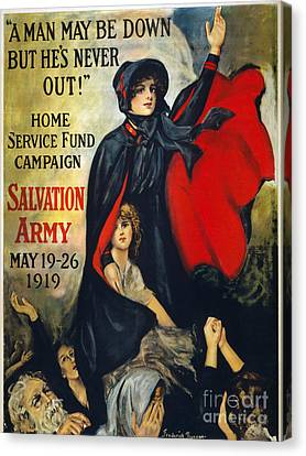 Salvation Army Poster, 1919 Canvas Print by Granger