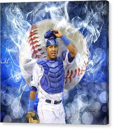 Salvy The Mvp Canvas Print by Colleen Taylor
