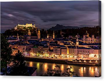 Canvas Print featuring the photograph Salzburg Austria by David Morefield