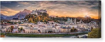 Salzburg In Fall Colors Canvas Print by Stefan Mitterwallner