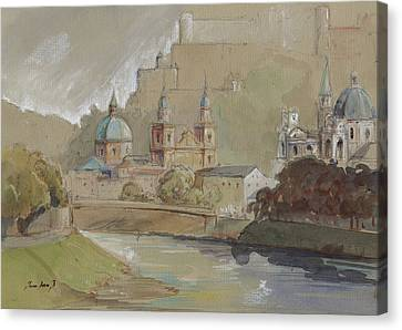 Austria Canvas Print - Salzburg by Juan Bosco