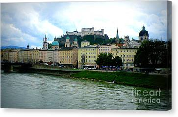 Salzburg Over The Danube Canvas Print by Carol Groenen