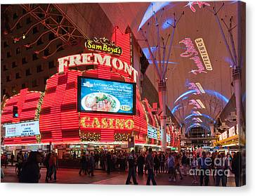 Sam Boyds Fremont Casino Canvas Print by Andy Smy