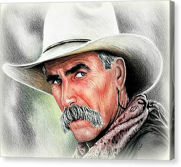 Sam Elliot Cowboy  Canvas Print