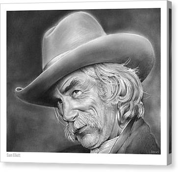 Western Canvas Print - Sam Elliott by Greg Joens