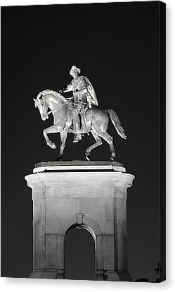 Sam Houston - Black And White Canvas Print by David Morefield