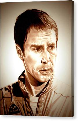Sam Rockwell Moon Canvas Print by Fred Larucci