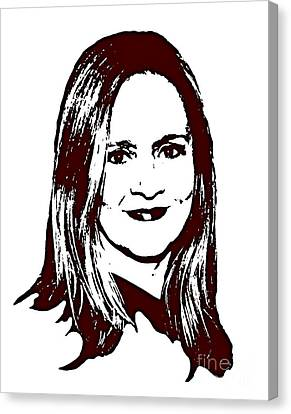 Samantha Bee Canvas Print by Pd