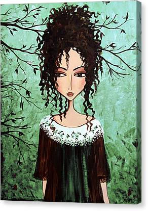 Samantha's Chocolate Tree Canvas Print by Debbie Horton