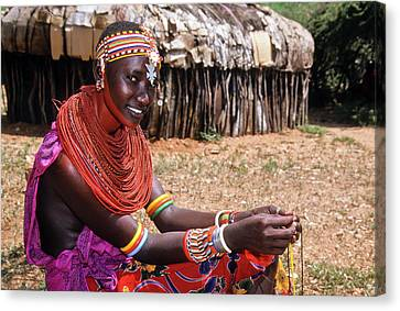 Samburu Beauty Canvas Print by Michele Burgess