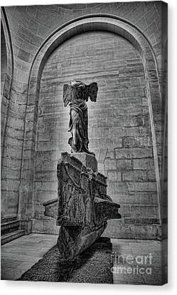 Samothrace Bw Canvas Print by Chuck Kuhn