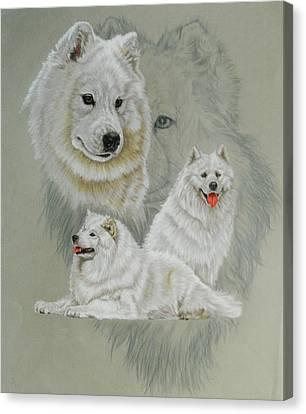 Working Dog Canvas Print - Samoyed W/ghost by Barbara Keith