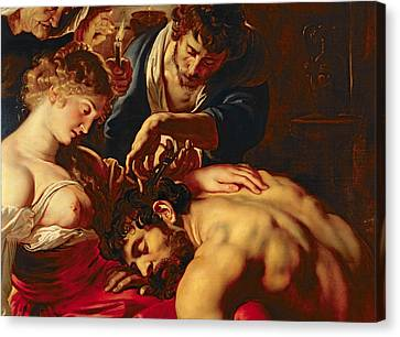 Peter Paul Rubens Canvas Print - Samson And Delilah by Rubens