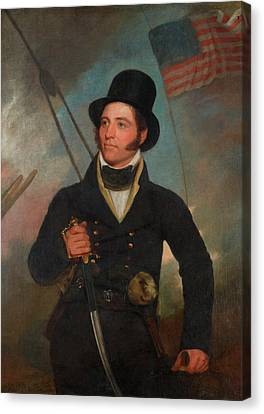 Founding Fathers Canvas Print - Samuel Chester Reid by John Wesley Jarvis